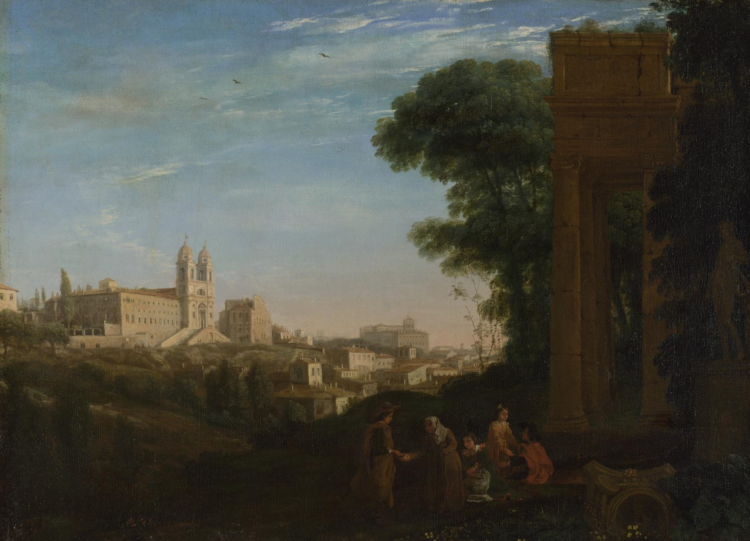 A View in Rome by Claude