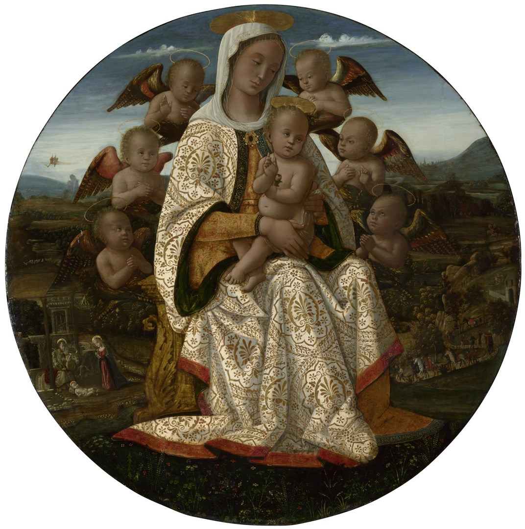 The Virgin and Child with Cherubim by Bernardino Fungai