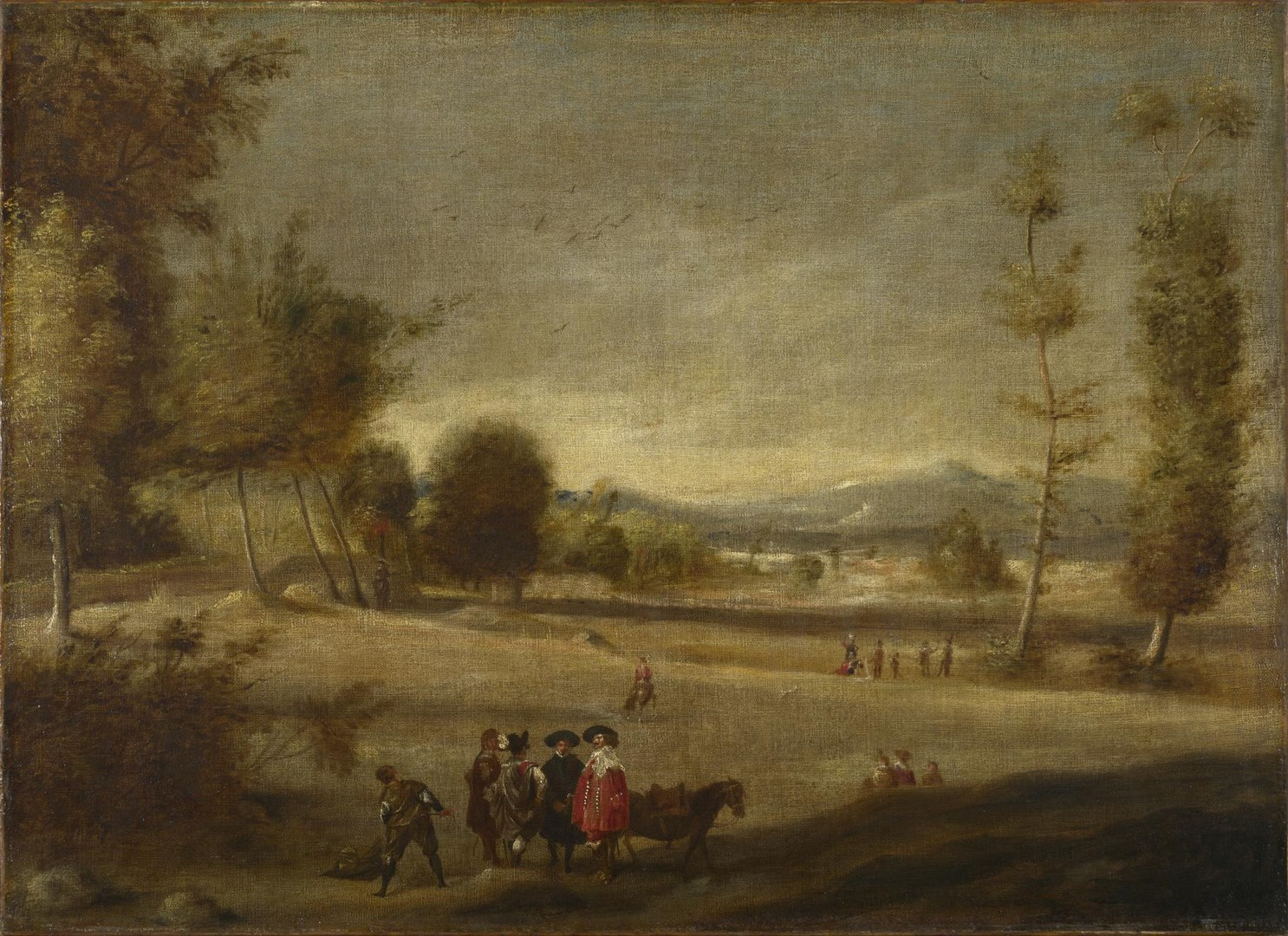 Landscape with Figures by Spanish