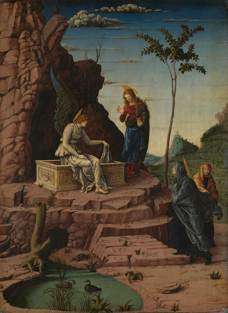 The Maries at the Sepulchre by Imitator of Andrea Mantegna