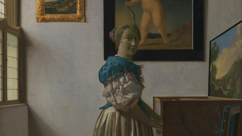 Johannes Vermeer, 'A Young Woman standing at a Virginal', about 1670-2