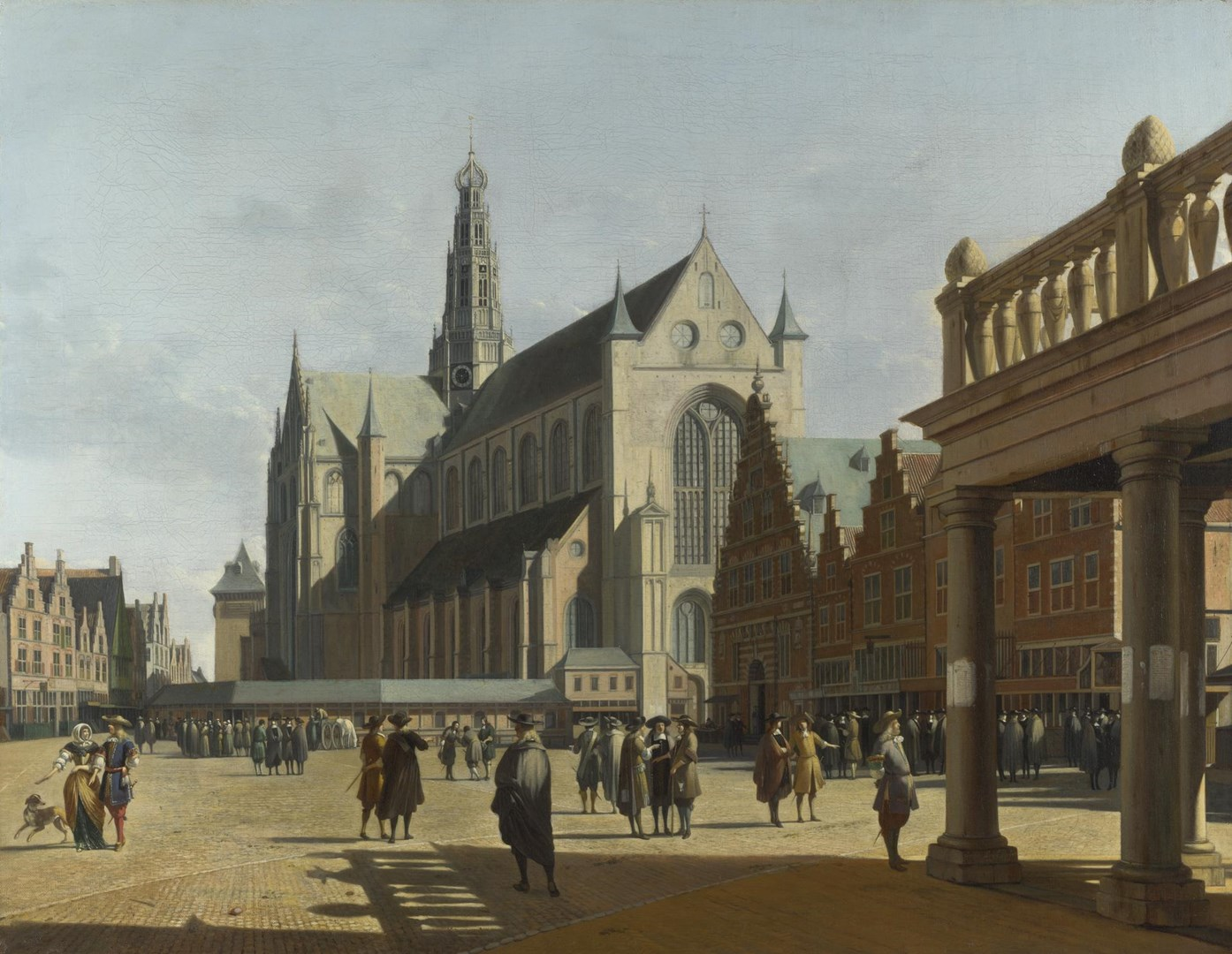 The Market Place and the Grote Kerk at Haarlem by Gerrit Berckheyde