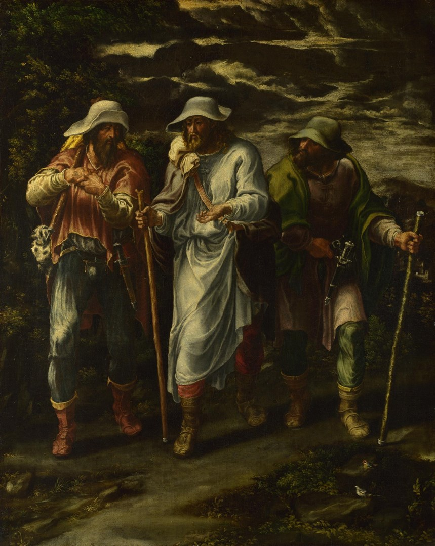The Walk to Emmaus by Lelio Orsi