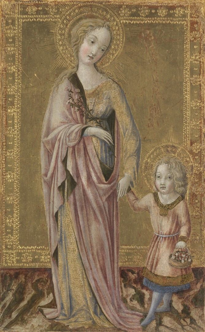 Saint Dorothy and the Infant Christ by Francesco di Giorgio