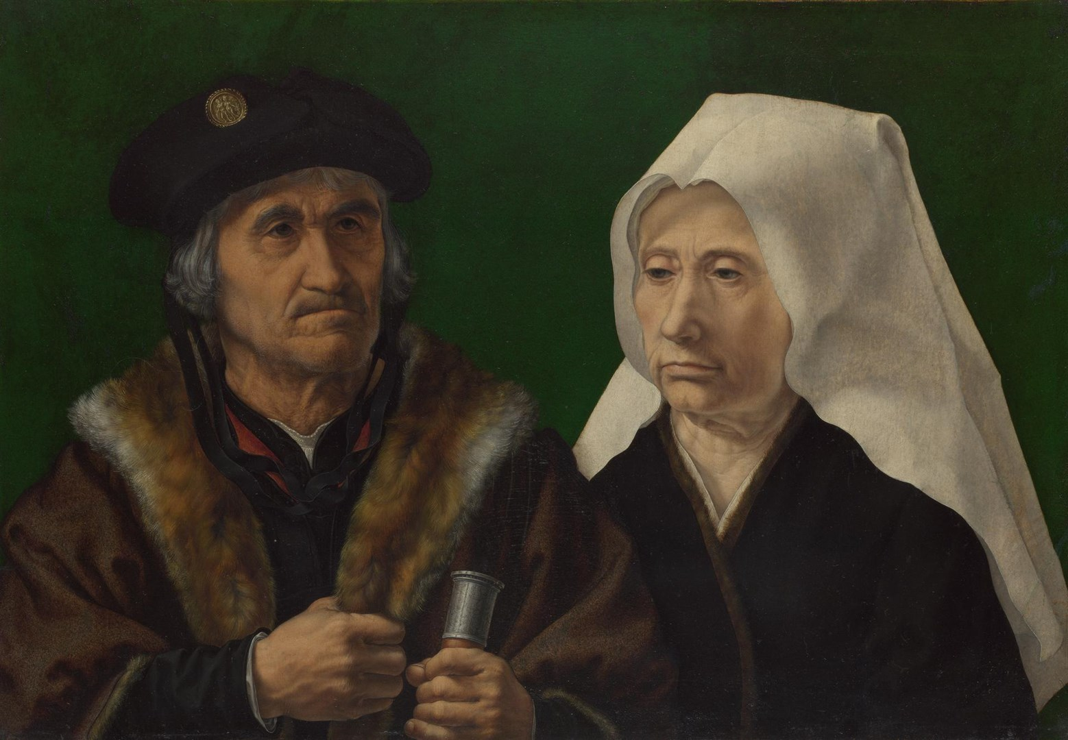 An Elderly Couple by Jan Gossaert (Jean Gossart)
