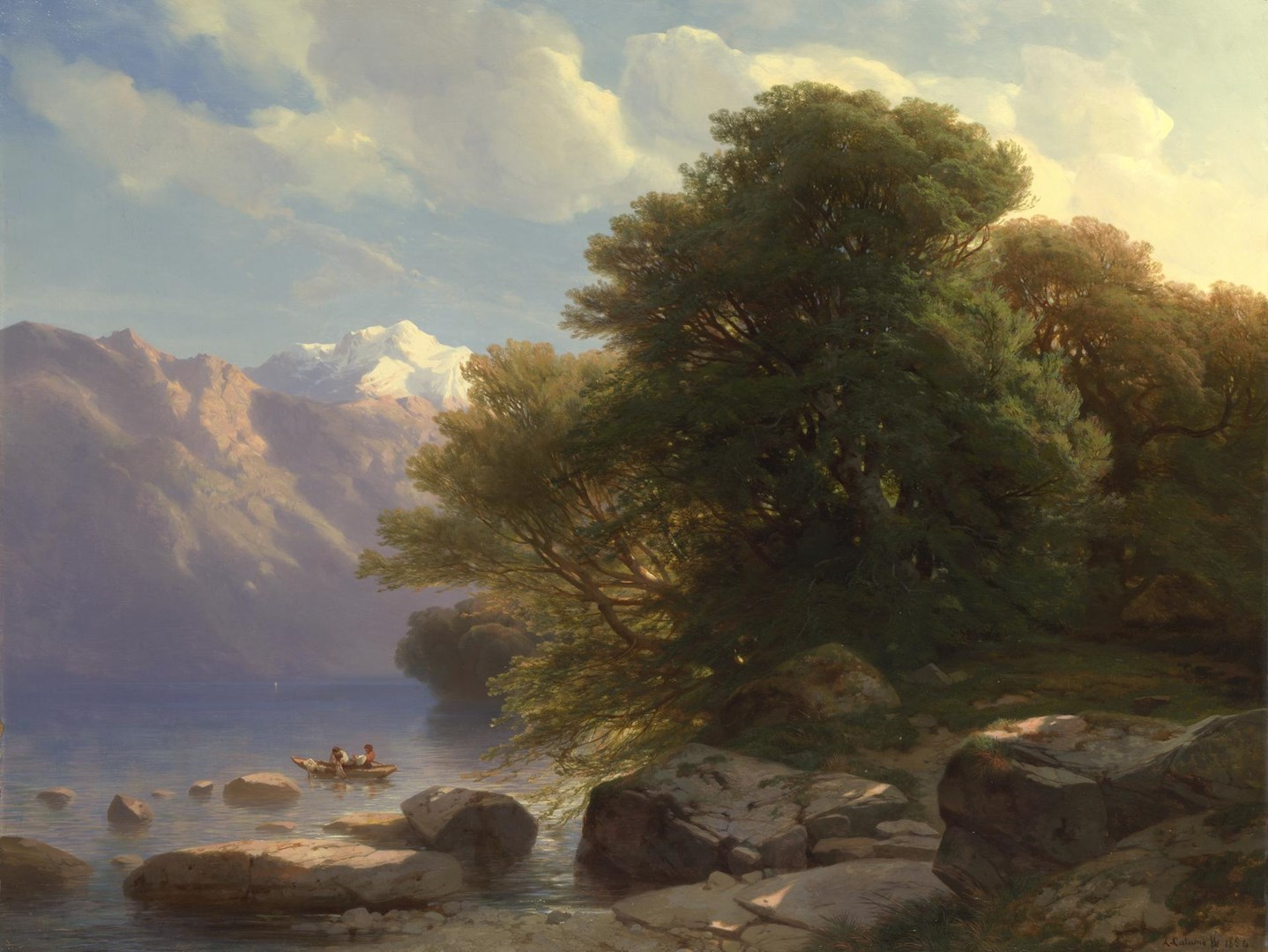 The Lake of Thun by Alexandre Calame