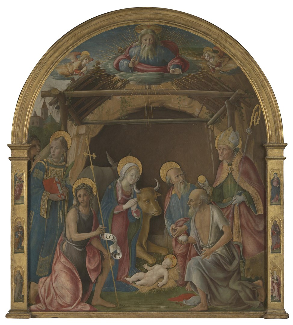 The Nativity with Saints by Pietro Orioli