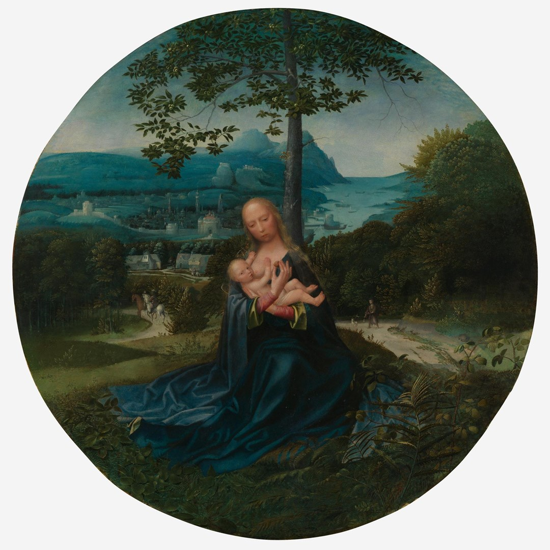 The Virgin and Child in a Landscape by Albert Cornelis and Associates