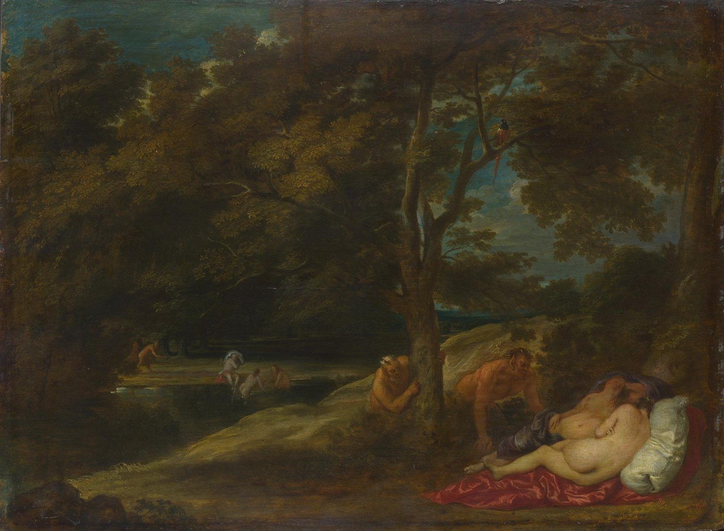 Nymphs surprised by Satyrs by Franchoys Wouters