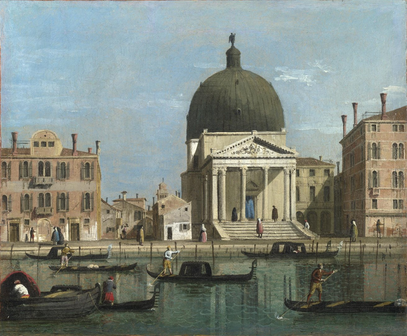 Venice: S. Simeone Piccolo by Follower of Canaletto