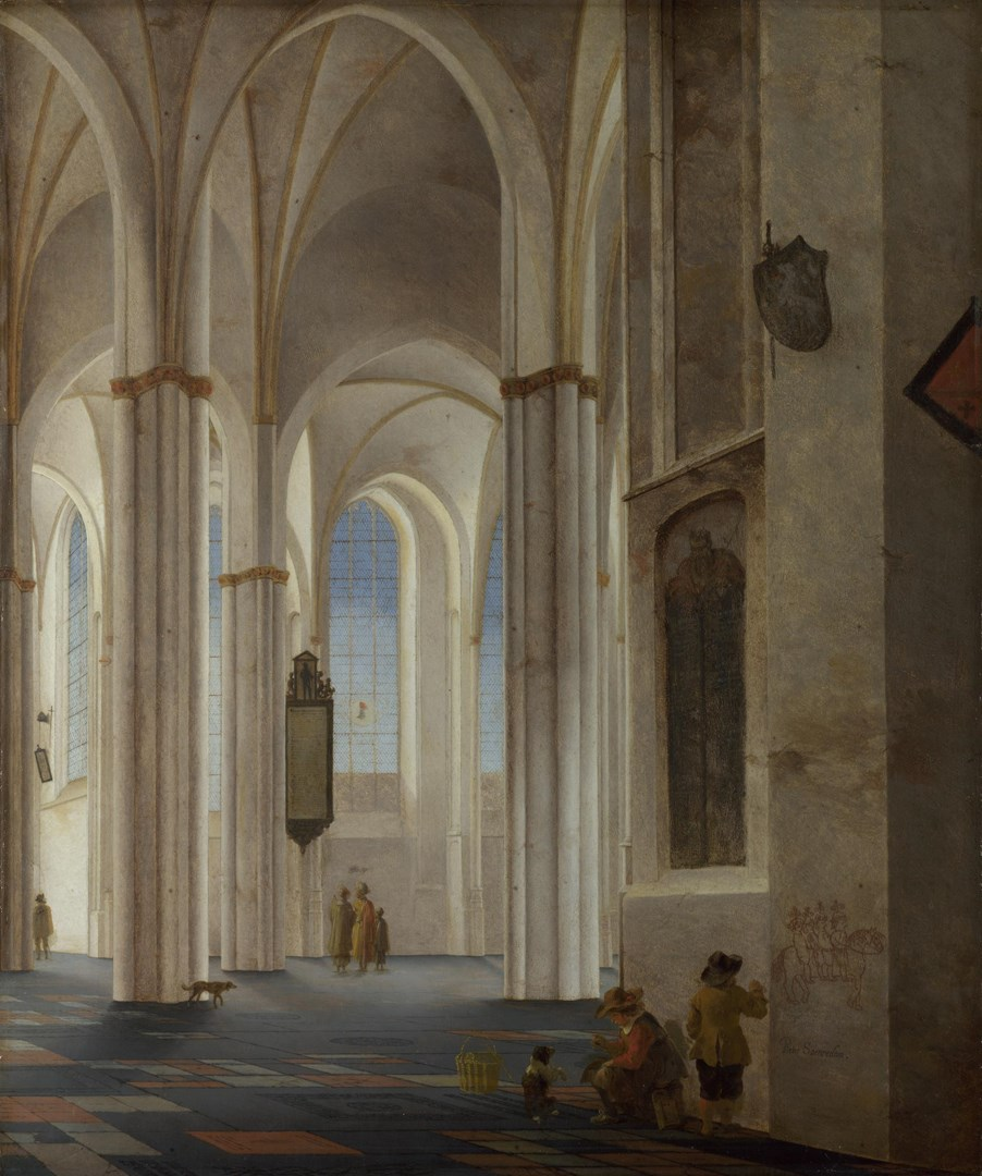 The Interior of the Buurkerk at Utrecht by Pieter Saenredam