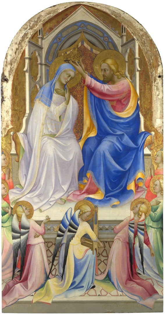 The Coronation of the Virgin by Lorenzo Monaco