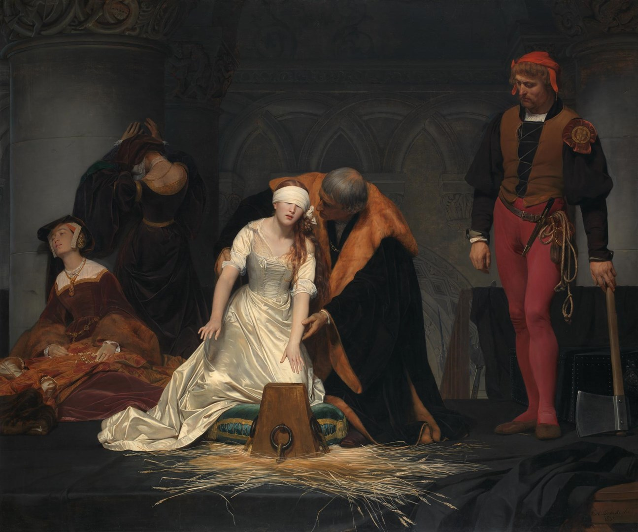 The Execution of Lady Jane Grey by Paul Delaroche