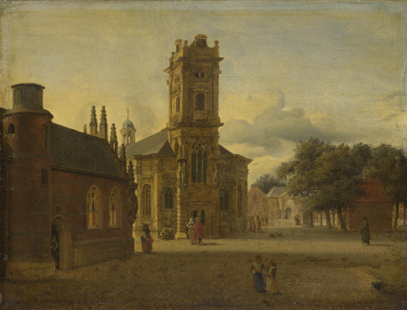 A Square before a Church by Jan van der Heyden