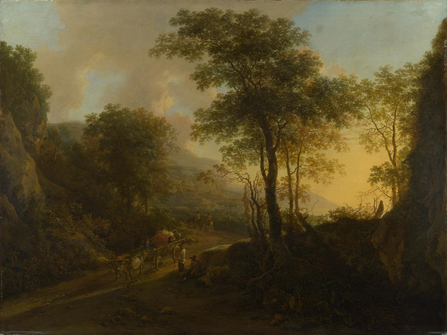 A Rocky Landscape with an Ox-cart by Jan Both