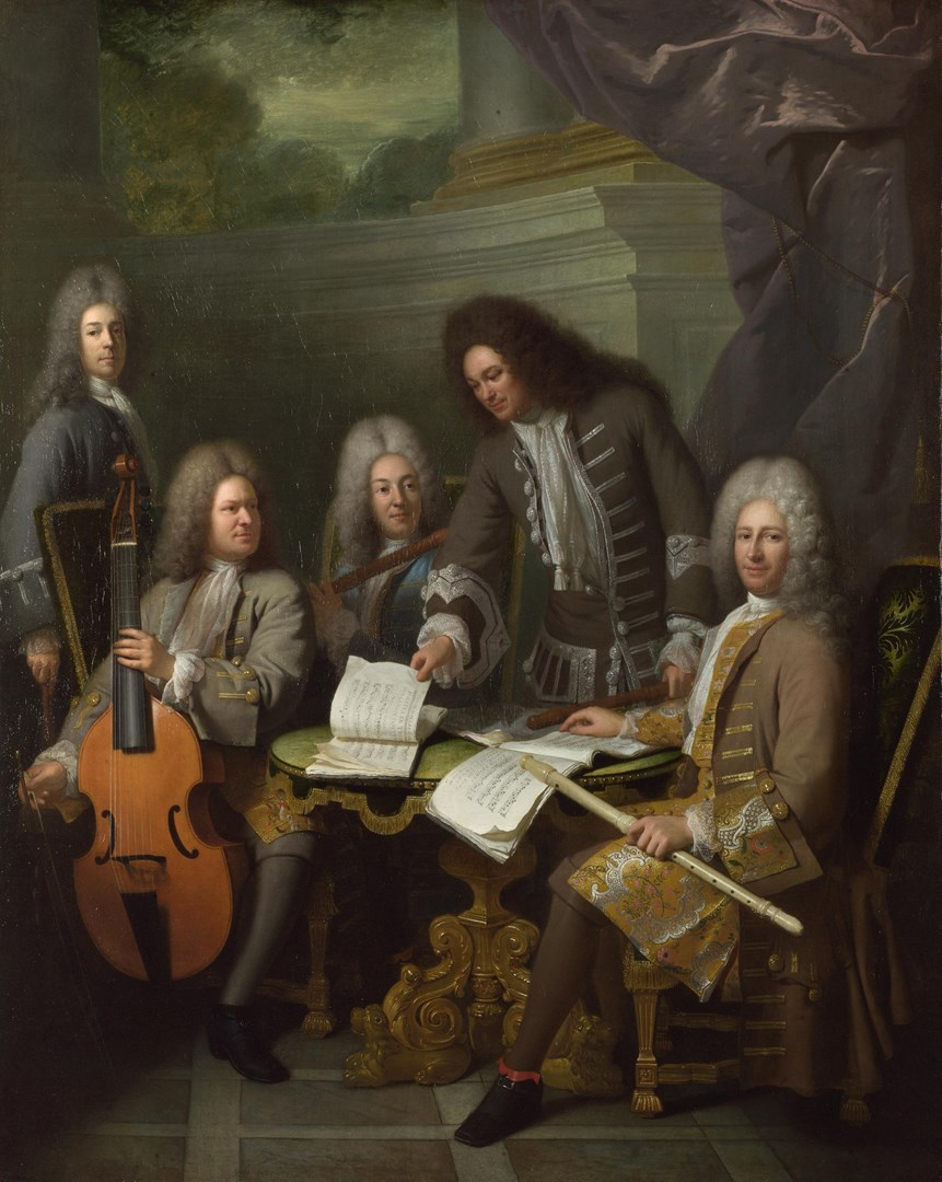 La Barre and Other Musicians by André Bouys