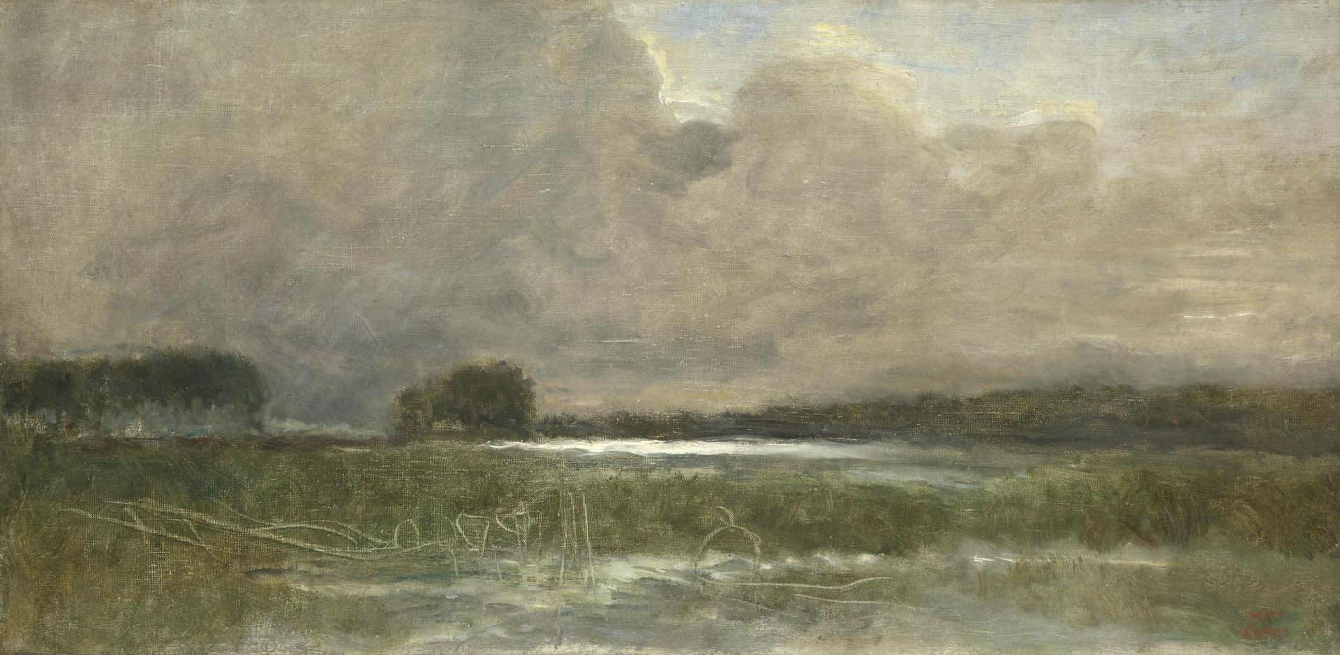 The Marsh at Arleux by Jean-Baptiste-Camille Corot