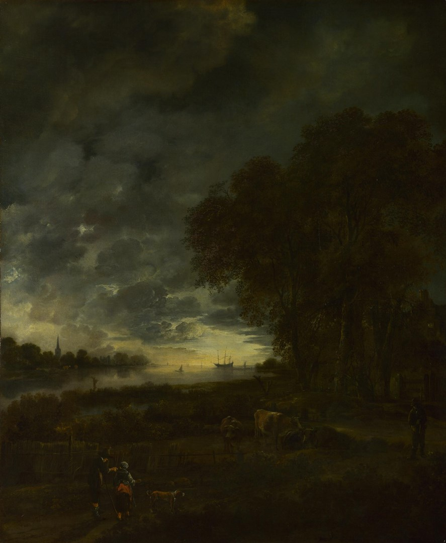 A Landscape with a River at Evening by Aert van der Neer