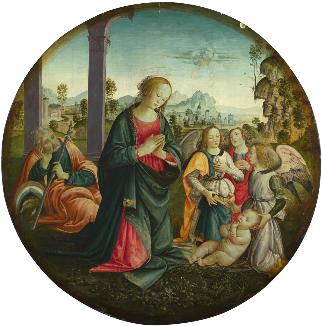 The Holy Family with Angels by Italian, Florentine