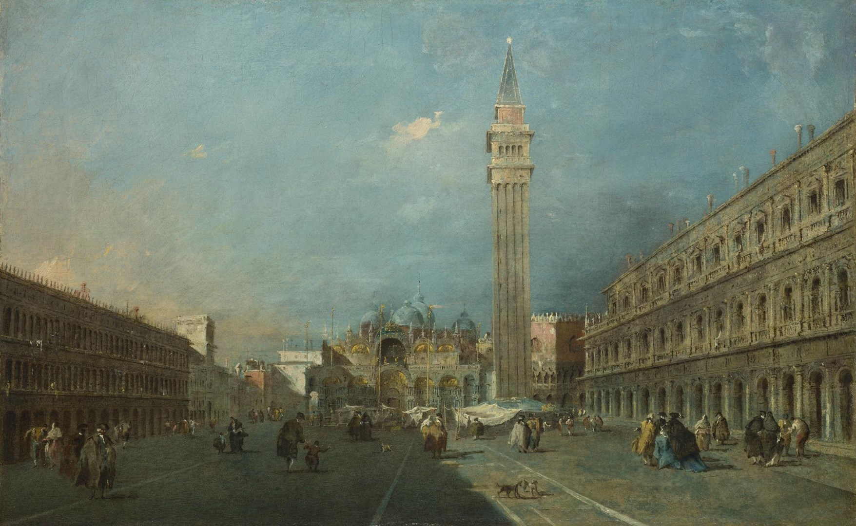 Venice: Piazza San Marco by Francesco Guardi