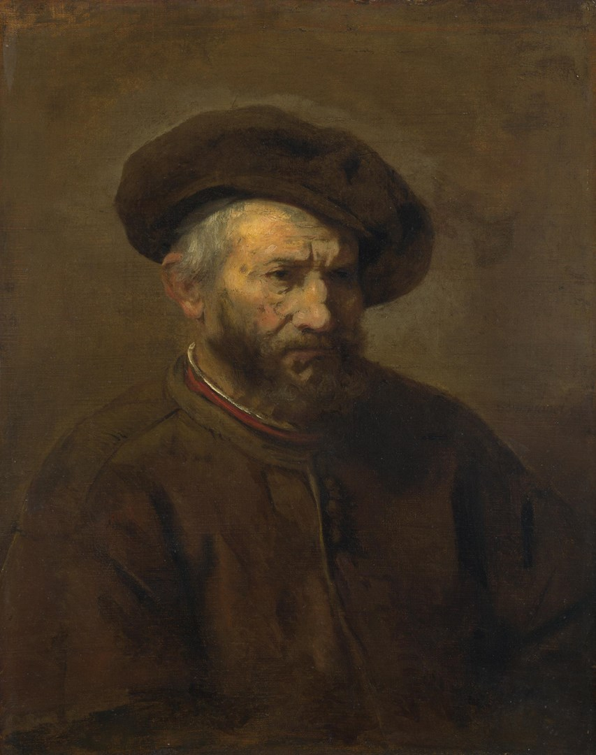 A Study of an Elderly Man in a Cap by Imitator of Rembrandt