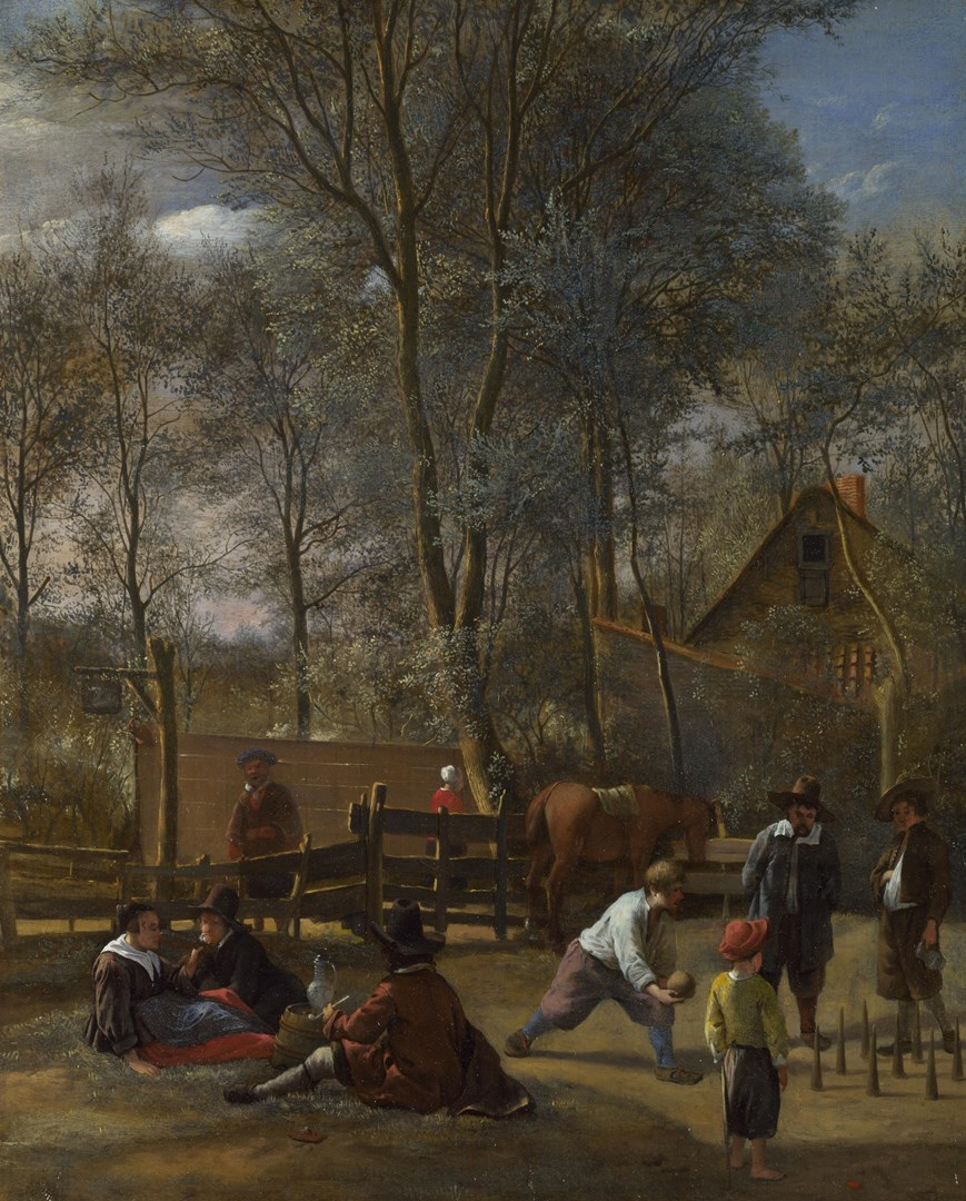 Skittle Players outside an Inn by Jan Steen