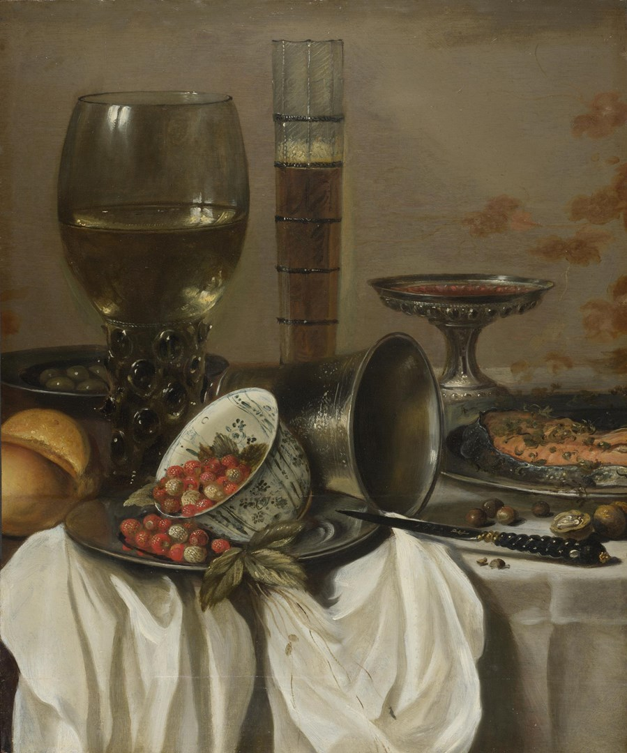 Still Life with Drinking Vessels by Pieter Claesz.