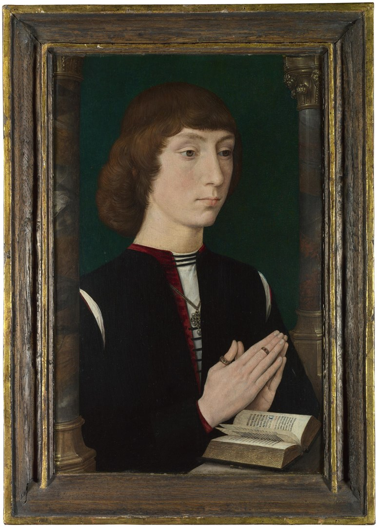 A Young Man at Prayer by Hans Memling