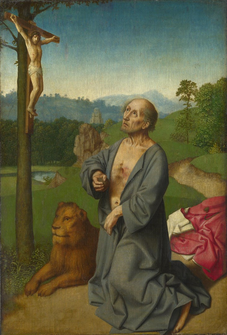 Saint Jerome in a Landscape by Workshop of Gerard David