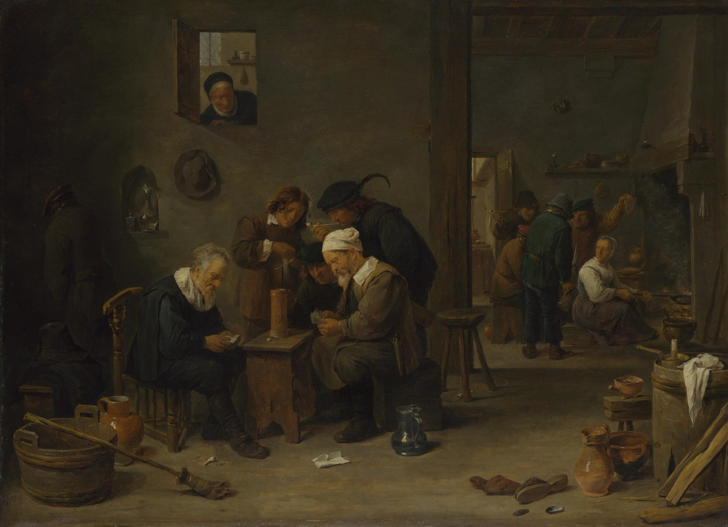 Two Men playing Cards in the Kitchen of an Inn by David Teniers the Younger