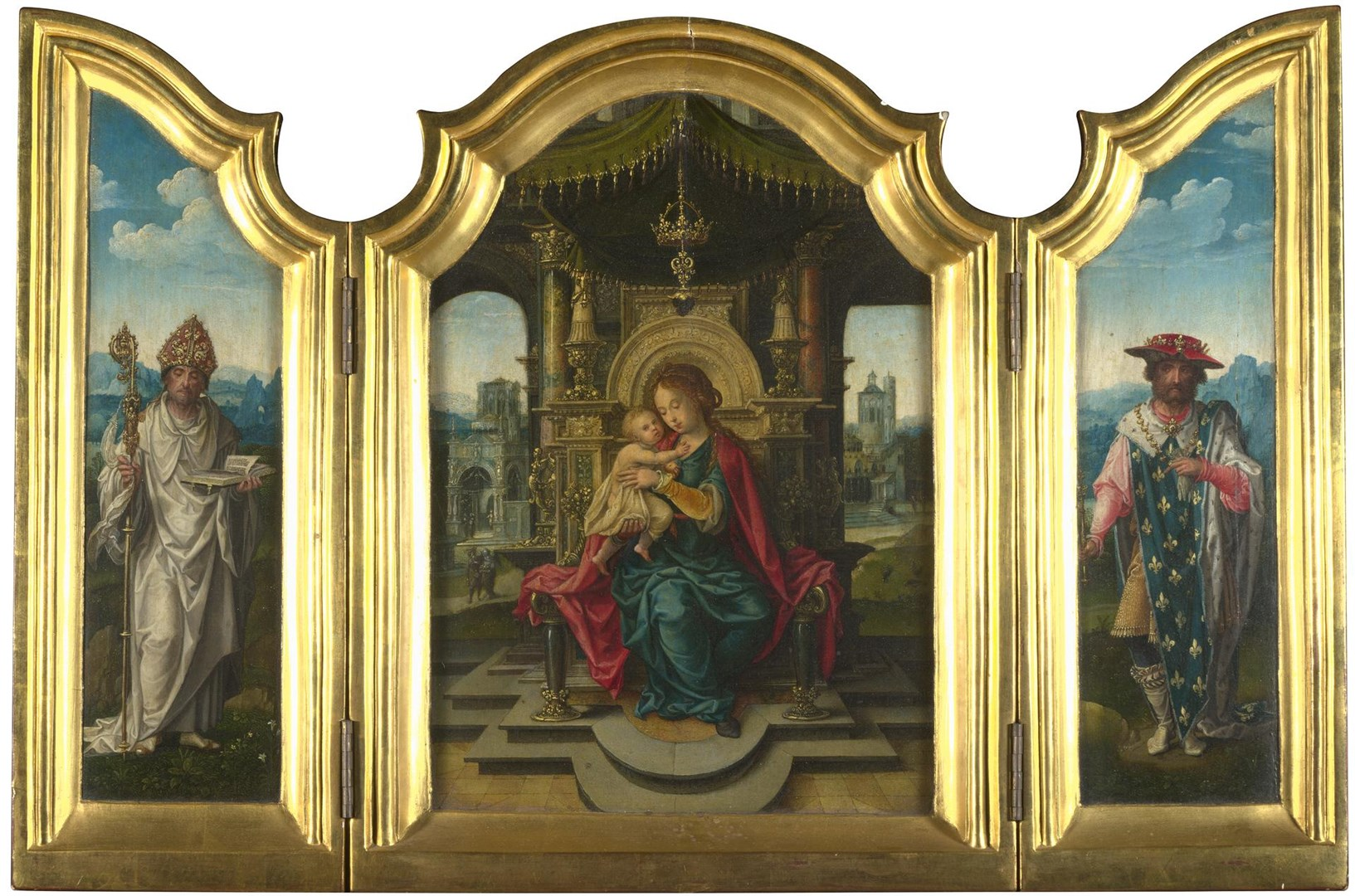 The Virgin and Child Enthroned by Workshop of Pieter Coecke van Aalst