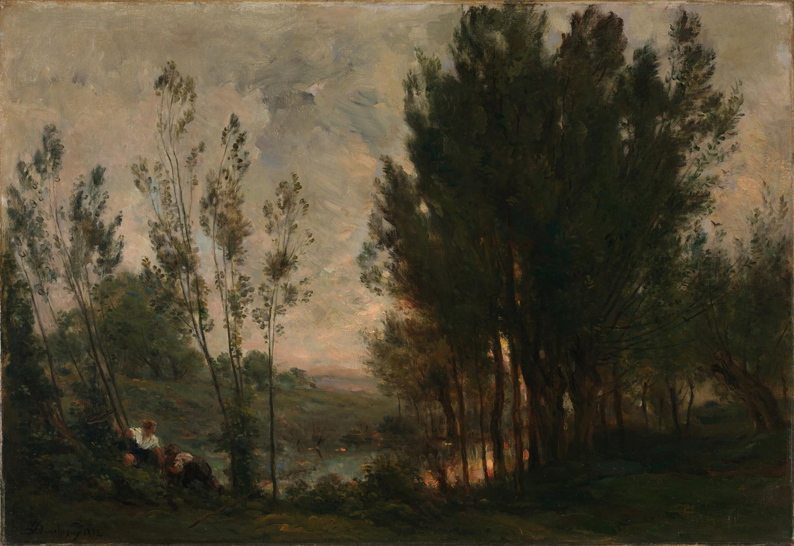 Willows by Charles-François Daubigny