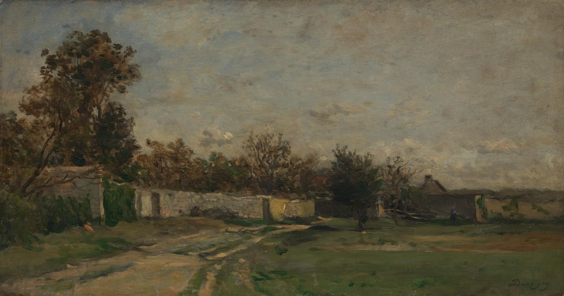The Garden Wall, Auvers-sur-Oise by Charles-François Daubigny