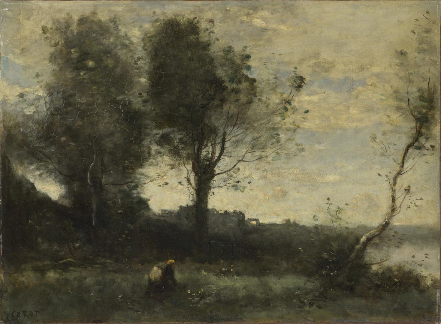 The Wood Gatherer by Jean-Baptiste-Camille Corot