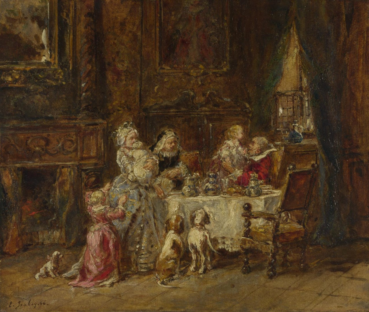 Grandfather's Birthday by Louis-Gabriel-Eugène Isabey