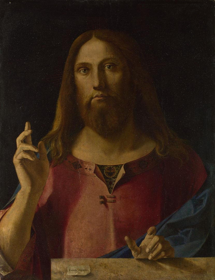 Christ Blessing by Benedetto Diana