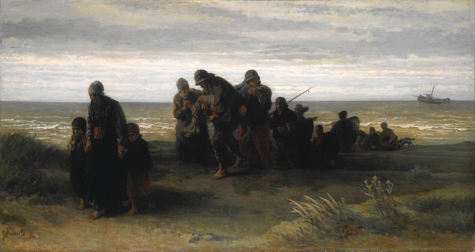 Fishermen carrying a Drowned Man by Jozef Israëls