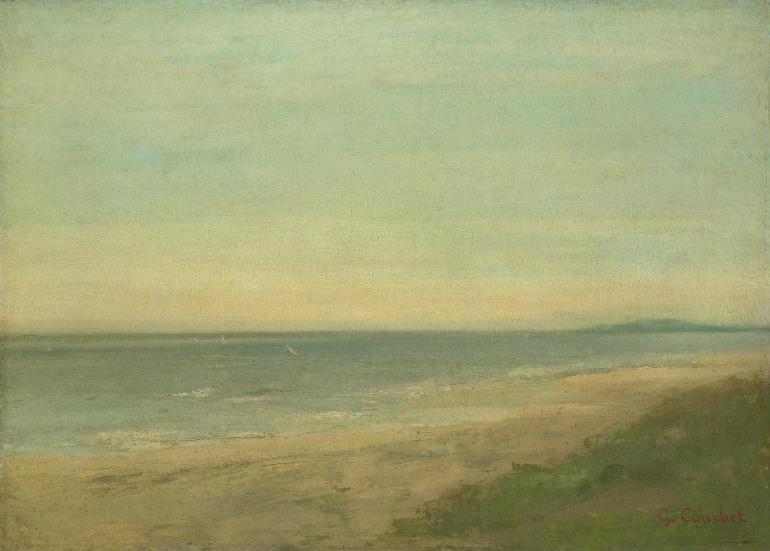 The Sea near Palavas by Style of Gustave Courbet