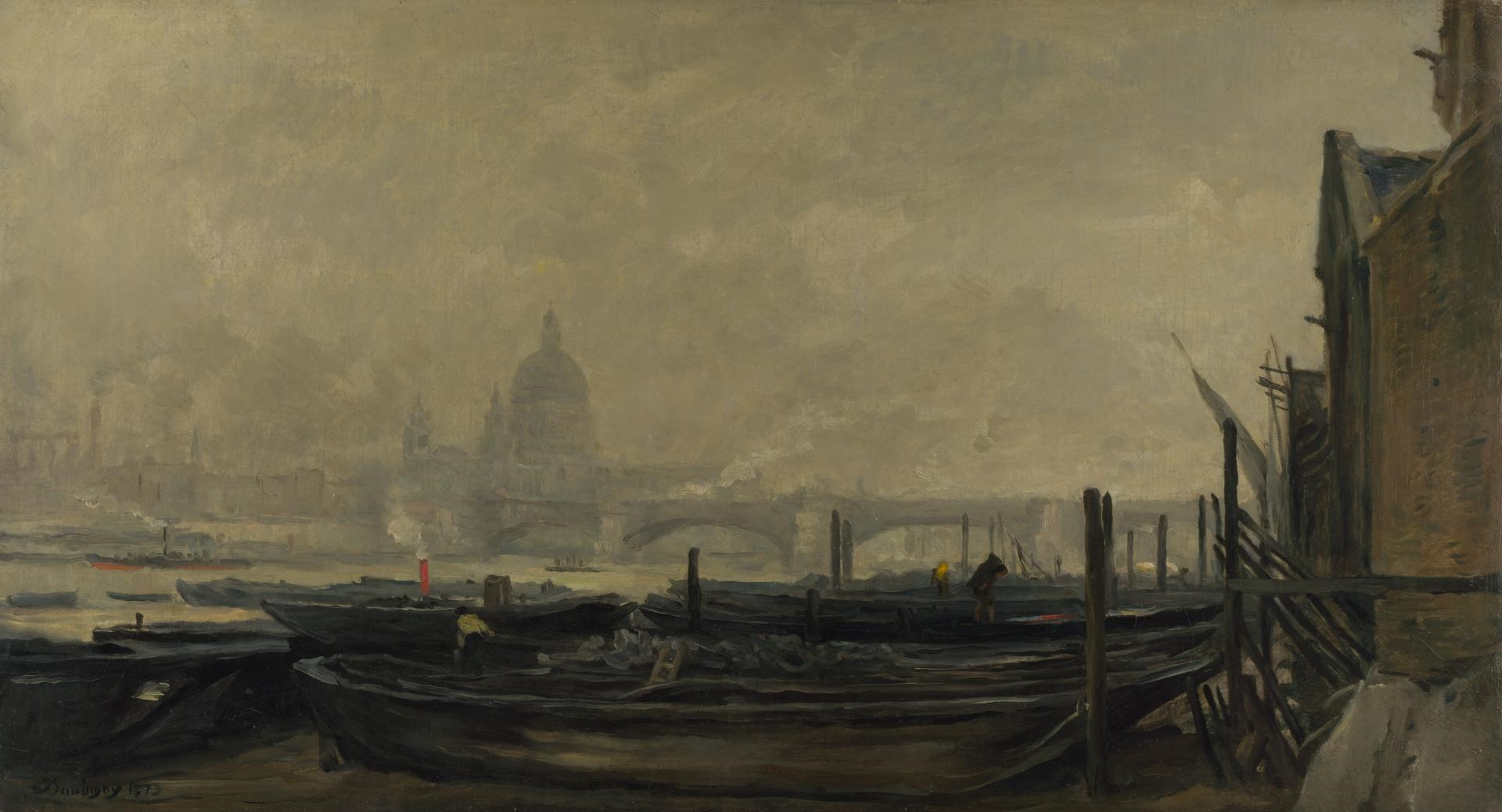 St Paul's from the Surrey Side by Charles-François Daubigny