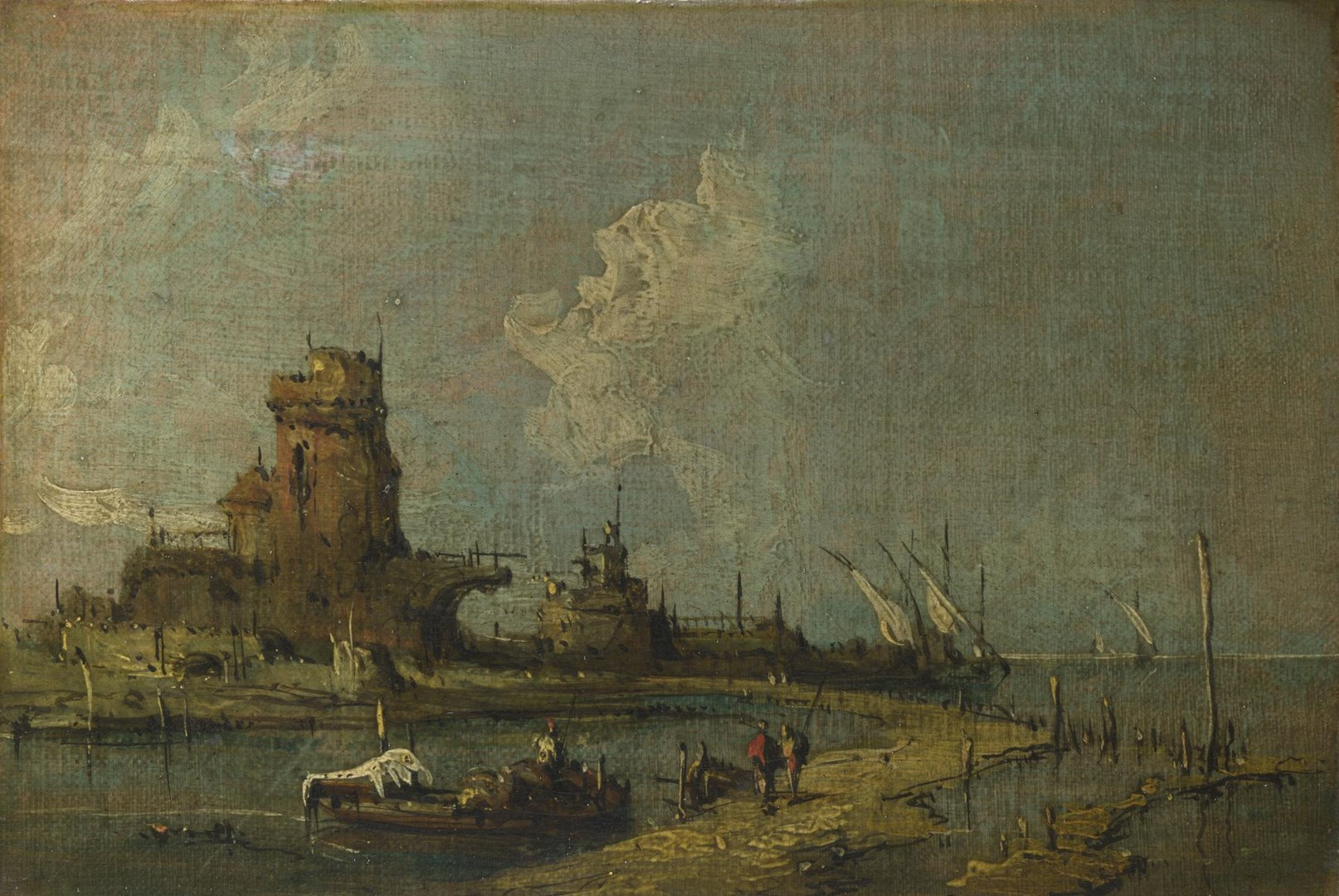A Ruin Caprice by Imitator of Francesco Guardi