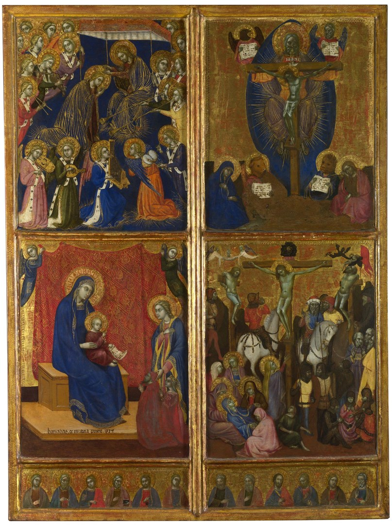 Scenes of the Virgin; The Trinity; The Crucifixion by Barnaba da Modena