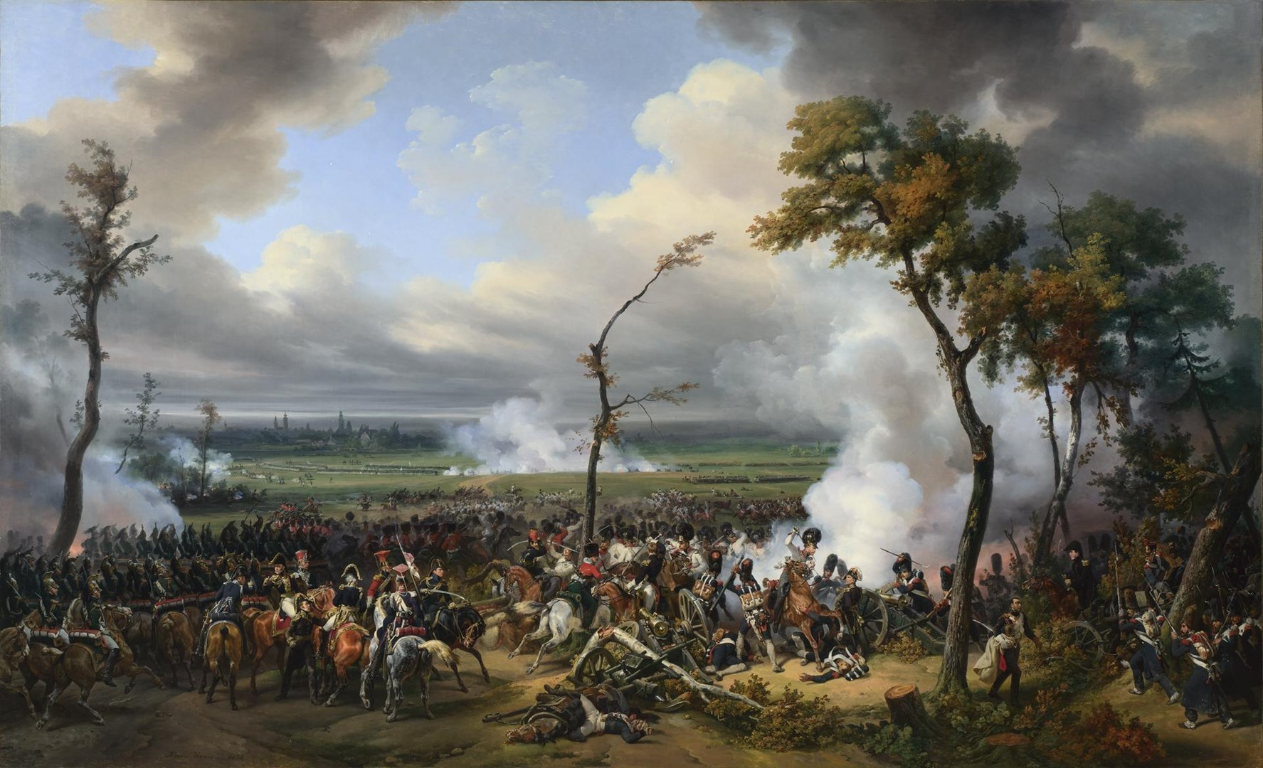 The Battle of Hanau by Emile-Jean-Horace Vernet