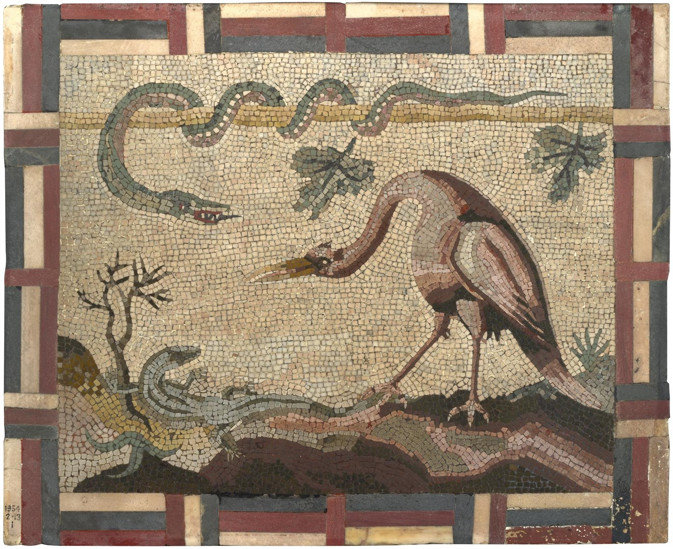 Crane, Python and Lizard by Italian, Roman