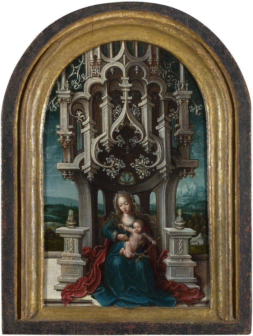 The Virgin and Child Enthroned by Jan van Coninxloo and Associates