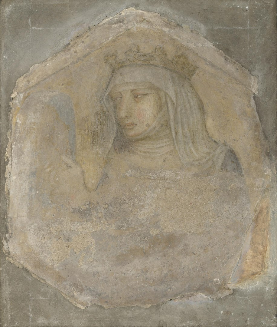 A Crowned Female Figure (Saint Elizabeth of Hungary?) by Pietro Lorenzetti and Workshop