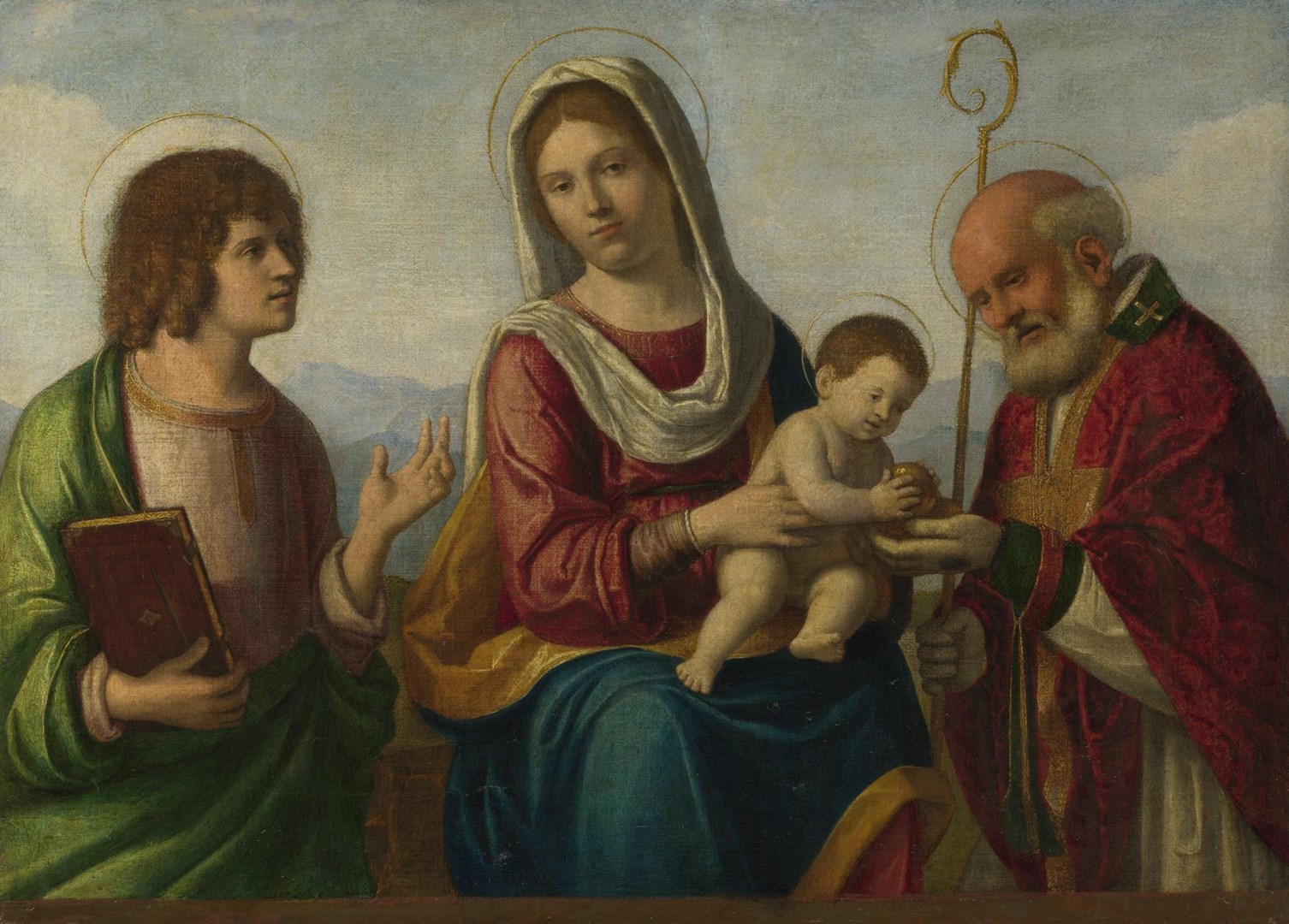 The Virgin and Child with Saints by Probably by Giovanni Battista Cima da Conegliano