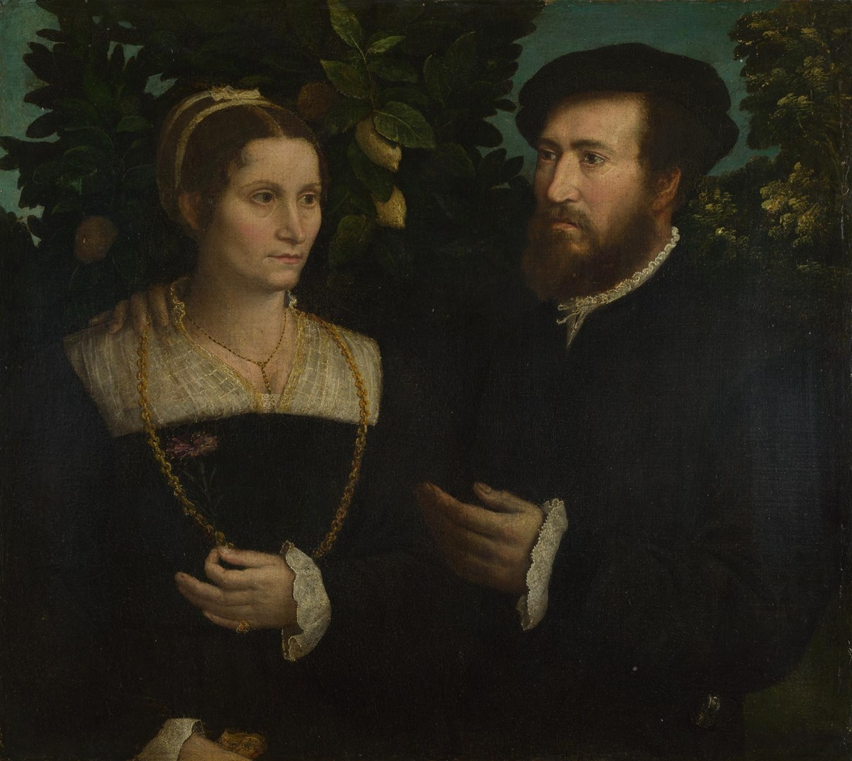 A Man and his Wife by Italian