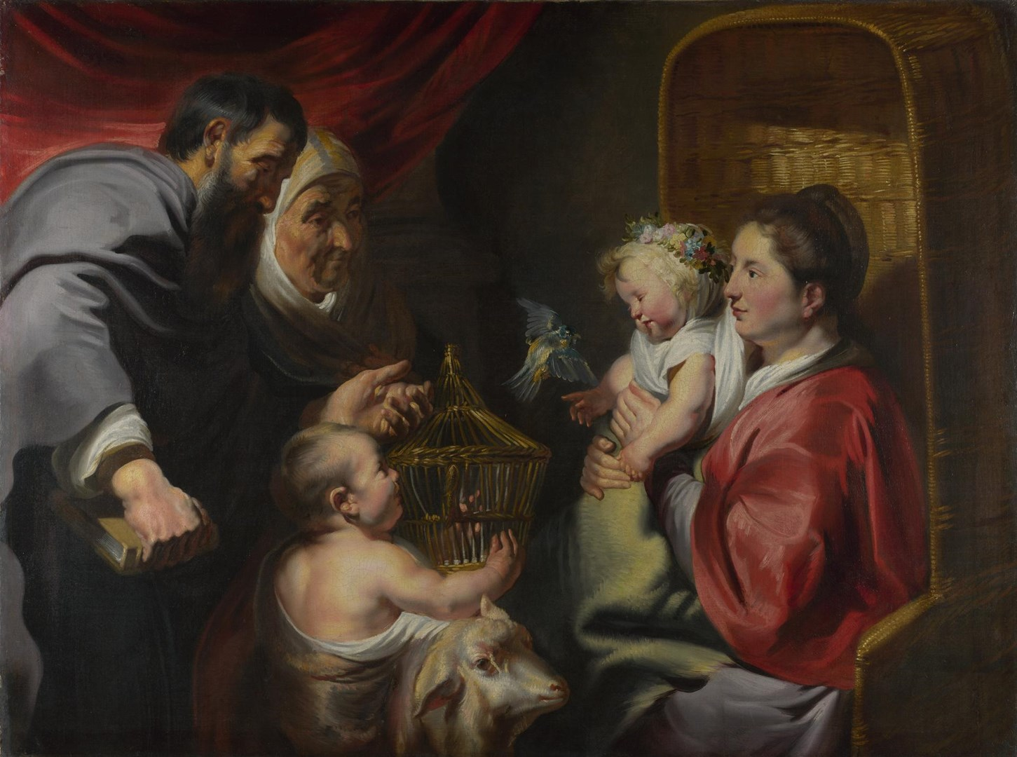 The Virgin and Child with Saint John and his Parents by Jacob Jordaens