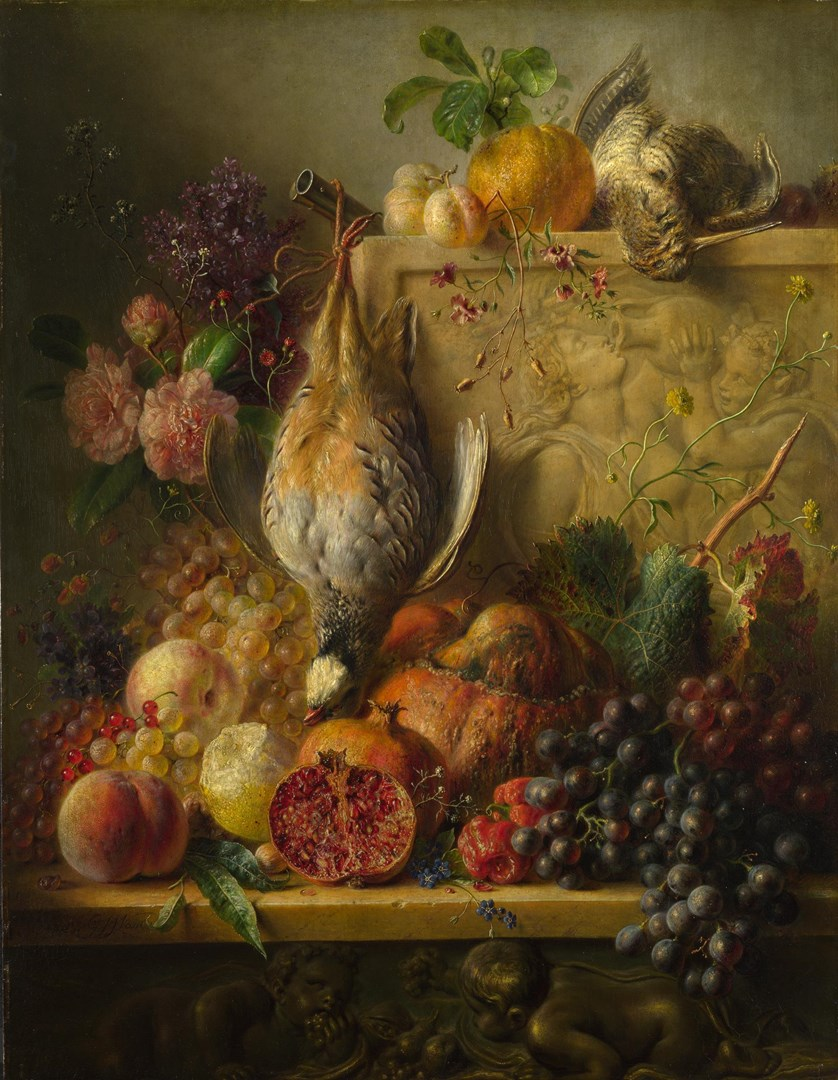 Fruit, Flowers and Game by Georgius Jacobus Johannes van Os