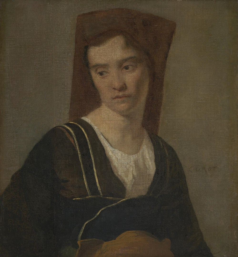 A Peasant Woman by Imitator of Jean-Baptiste-Camille Corot